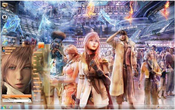 角色扮演游戏最终幻想win7电脑主题下载
