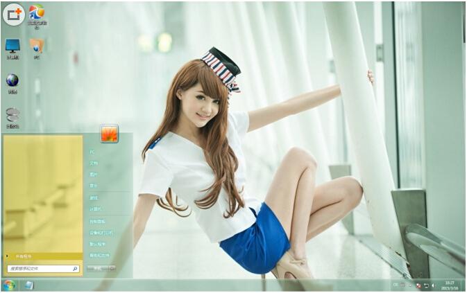 空姐美腿美女图片写真win7电脑主题下载